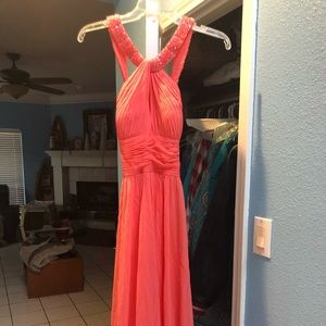 Coral formal dress. Worn once